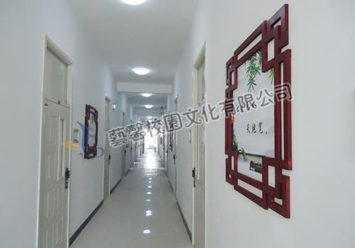 成功案例:本溪高中_校园景观设计|学校走廊文化设计