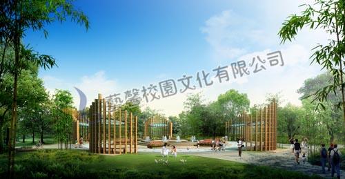 校园亭廊设计_校园文化建设|校园景观设计|学校走廊