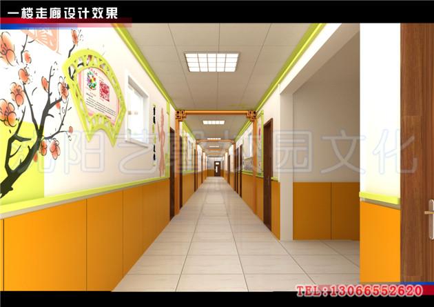 教室走廊墙壁设计
