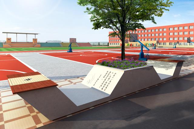 亭廊设计校园雕塑设计特色专用教室设计校园大门设计