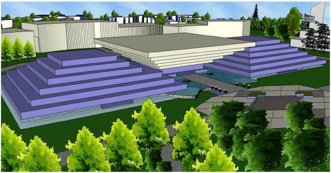 校园景观设计 校园亭廊设计 校园雕塑设计 特色专用教室设计 校园大门