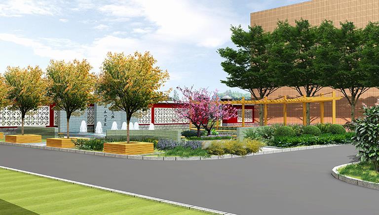 北方的校园绿地景观设计,校园景观设计公司